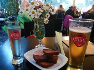 Latvian beer and snacks